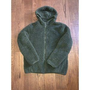 Faux Fur Teddy Bear Hooded Jacket with Zipper